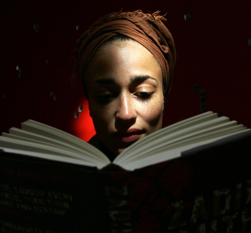 "**ADVANCE FOR WEEKEND EDITIONS, OCT. 6-9** British author Zadie Smith reads from her new book titled, ""On Beauty,"" in north London, Sept. 19, 2005. (AP Photo/Sergio Dionisio) ORG XMIT: NY349"